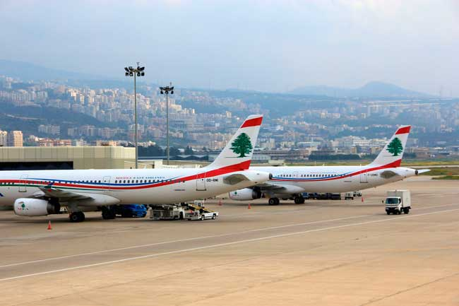 BEY Airport is a hub for Middle East Airlines and Wings of Lebanon.